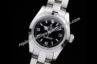 Fashion Rolex Explorer I Stainless Steel Oyster Black Dial Automatic Movement Watch