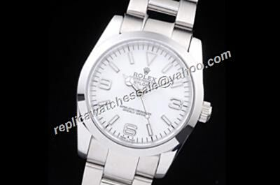 Rolex 6298 Explorer I 36mm White Face Silver Steel Oyster Watch