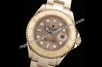 Rolex 168628 Yacht-Master Gold Bezel Auto Steel Band Watch For man