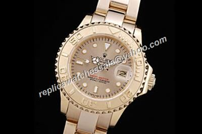 Rolex Women 169628 18kt ALL Gold Yacht Master Stainless Steel Women Watch