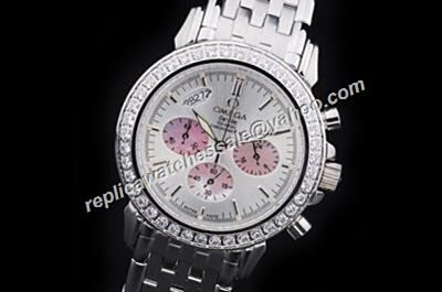 Omega De Ville Chronometer  Diamond Bezel  Date 2-Tone  fake Watch