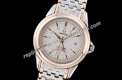 Omega De Ville Prestige Rose Gold Scale 2-Tone Bracelet Watch