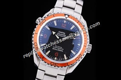 Omega Seamaster 600m/2000ft Co-axial Swiss Orang Bezel fake Date Watch