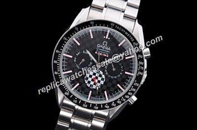 Omega Speedmaster Racing Chronograph 2-Tones 24 Hour Day Date Watch