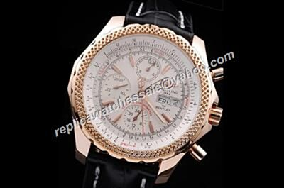 Breitling Bentley Prpetual Calendar 24h A1336212 / A575 / 435X GT Chronograph Style Yellow Gold Male Watch