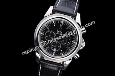 Replica Omega De Ville  Silver Steel Chronometer Dial Repeater Watch