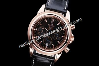 Omega De Ville Co-axial Chronograph Ref 424.13.40.21.02.001 Black 24 Hours fake Watch
