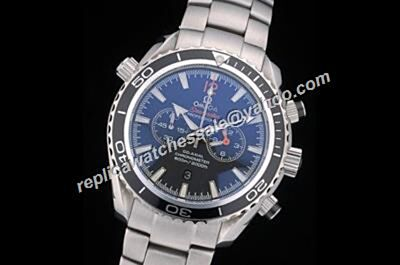 Omega Seamaster 600m Chronograph 215.30.46.51.01.001 Mens White Gold SS  Quartz Watch