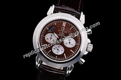 Omega De Ville  Ref 4842.20.32 QUARTZ Chrono 2-Tone Face Fake Watch