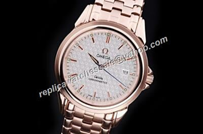 Omega De Ville Ref 424.50.37.20.02.001Mens Rose Gold  SS Date Watch