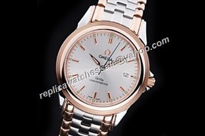 Men's Omega De Ville  2-Tone Steel Bracelet Date Watch