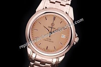 Omega De Ville Rose Gold Automatic  39mm Date Steel Bracelet Watch