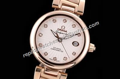Omega De ville Ladymatic Rose Gold   Ladies Ref 425.60.34.20.55.001 Date Watch