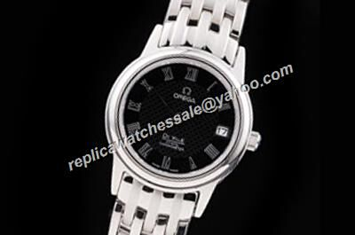 Omega De Ville  White Gold Date 424.10.37.20.01.001 Replica Black Watch