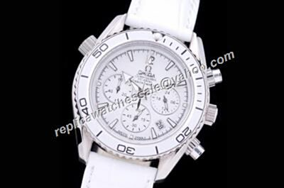 Omega Seamaster 300m Chronograph Men's White 24 Hours  Watch