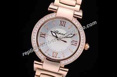 Chopard Imperiale Diamond Bezel Quartz Women's Rose Gold fake Watch