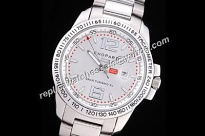 Chopard Classic Racing Mille Miglia GTS chronometer Date Chrono Silver Watch