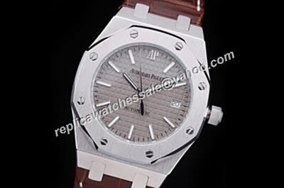 Clone Audemars Piguet Automatic Men's Grey Royal OAK Silver 40MM Watch