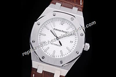 Audemars Piguet Automatic Royal OAK Silver SS  Men's Date Black Hands Watch