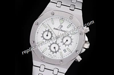 AP Royal OAK Chronograph Men Ref 26300ST.OO.1110ST.05 Complication White Gold 24 Hours Watch