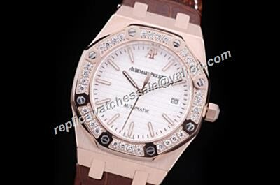 Audemars Piguet Diamonds Royal OAK Automatic Rose Gold Girl's 39mm Watch