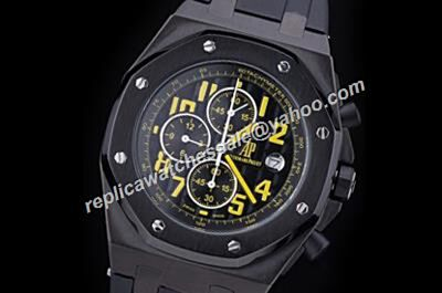 AP Offshore Chronograph Ref 26176FO.OO.D101CR.03 Singapore F1 2008 Limited Edition Black Rubber Strap Men's Watch