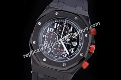 AP Offshore Singapore F1 2008 Limited Red Crown Carbon Black Chronograph 42mm Watch