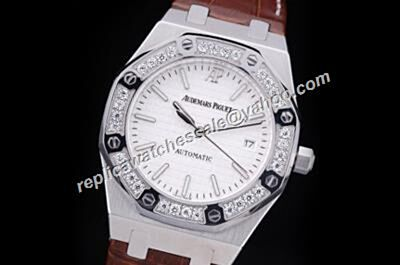 Fake Audemars Piguet Precio 77321OR.ZZ.D080CA.01 Unisex White Diamonds Royal OAK 40MM  Automatic Watch