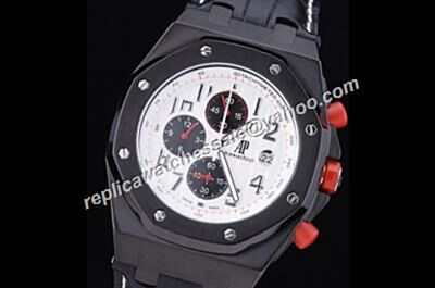 AP Singapore F1 Offshore Limited Chronograph Carbon Gents Red Samll Hands Watch