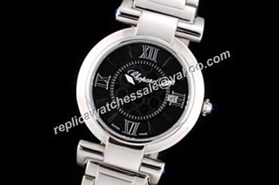 Chopard Imperiale Ref 425.30.34.20.51.002Ladies Silver  SS  Black Watch