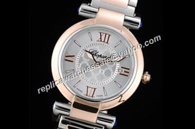 Chopard Imperiale Rose Gold Bezel  Steel Bracelet Quartz Date Watch