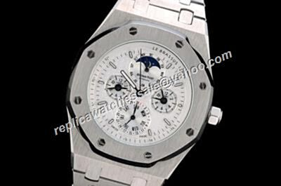 AP Royal OAK Perputal Calendar 25865BC.OO.1105BC.04  Moonphase All Silver Auto Watch