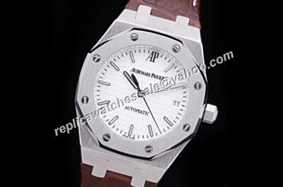 Faux Audemars Piguet 15450OR.OO.D088CR.Royal OAK Black Hands Silver Steel Watch