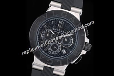 Bvlgari Diagono chronometer 24 Hours DG42BSCVDCH Silver Case Rep Date Watch