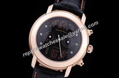 Women's Audemars Piguet Chronograph Jules Audemars Diamond Markers Rose Gold Watch Replica