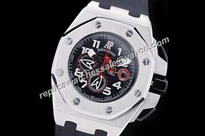 Fake AP Offshore Alinghi Team Limited Edition Red Hands Silver Case Watch