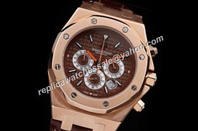 AP 30TH Anniversary City Of Sails Brown Limited Royal OAK Orange Hands Chronograph Watch Rep