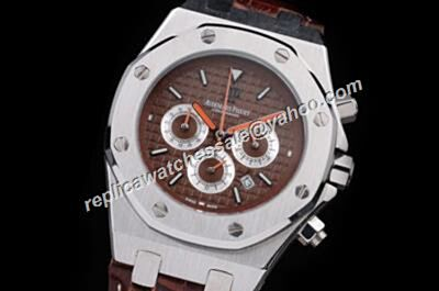 AP Royal OAK 30TH Anniversary Chronograph Ltd.Edition Silver Brown Quartz Watch