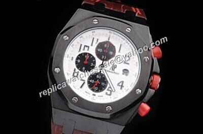 AP Offshore Singapore F1 2008 Chronograph Limited Ceramic Black 42mm Boys Watch