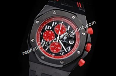 AP Chronograph Offshore Singapore 2008 Limited Edition Red Tachymeter Bezel Replica Watch