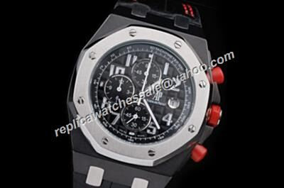 Fake AP Offshore Singapore F1 Ref26219IO.OO.D005CR.01 Limited Red Crowns Silver Bezel Watch