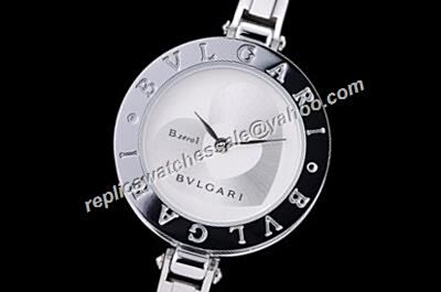 Bvlgari B.Zero1 Quartz Ref BZ30WHDSGL 2-Hearts Silver Bangle 28mm Watch