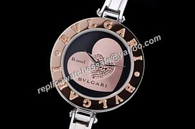 Bvlgari B.Zero1 RoseGold Bezel 2-Herts Diamond Bangle Replica Watch
