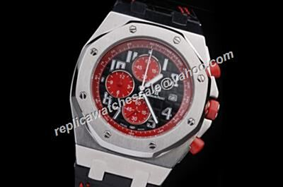 AP Singapore GP Offshore Chronograph 2008 Limited Ref 26198TI.OO.D101CR.01 Red -Black Faux Gents Watch