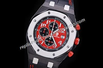 Fake AP Offshore Limited Singapore Gp 261900S.OO.D003CU.01f  Red Crowns Ceramic Bezel Watch