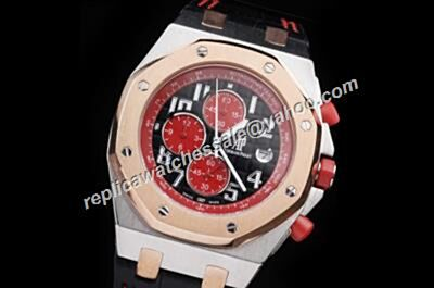 AP Singapore Gp Offshore Limited Chronograph Gents Red Sub-Dials Watch