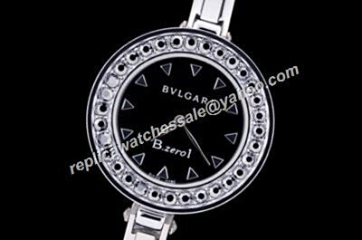 Bvlgari B.Zero1  Diamond Bezel 28mm No Date Silver Bracelet Watch