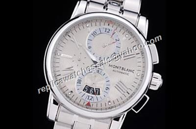 Montblanc Chronograph Design 4810 REF U0114856 White Gold Date Automatic Watch