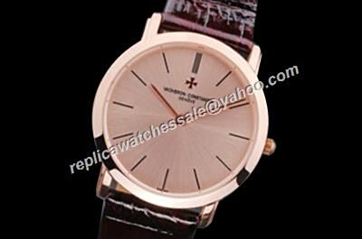 Vacheron Constantin Patrimony NO Date Rose Gold 40MM Quartz Watch