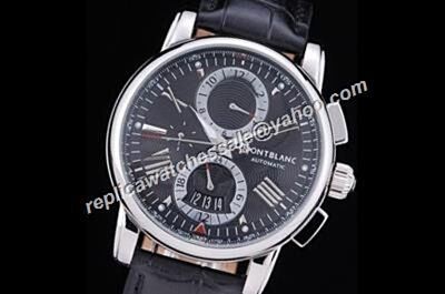 Montblanc Chronograph U115123 4810 Silver Steel Date 24 Hours Automatic Watch